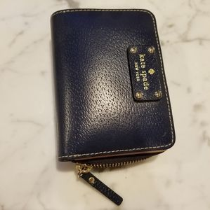 Kate Spade Navy Leather Wallet - Authentic, EUC